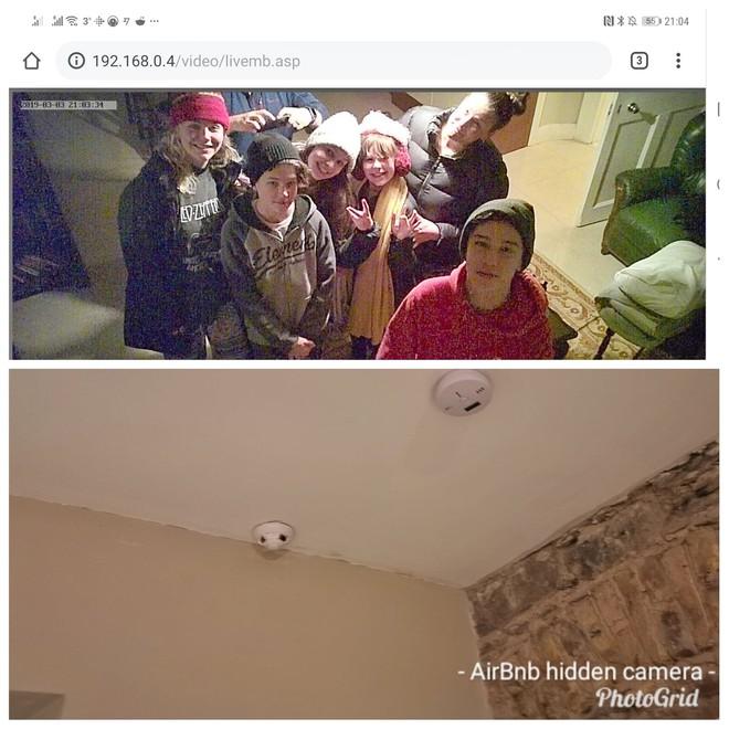 Tìm mạng Wi-Fi, khách Airbnb phát hiện camera quay lén giấu trong thiết bị báo khói - Ảnh 1.
