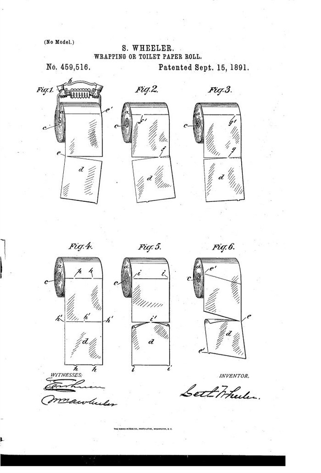 Bằng sáng chế 128 năm tuổi này tiết lộ cách thích hợp để treo giấy vệ sinh - Ảnh 2.