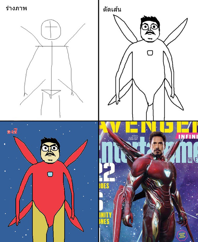 Vẽ đẹp thì khối người làm được, vẽ để gây cười như dàn siêu anh hùng MCU này mới khó - Ảnh 2.