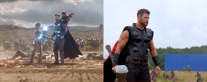 Xem lại hậu trường Infinity War, mới thấy trình hóa thân thượng thừa của dàn diễn viên Marvel - Ảnh 3.