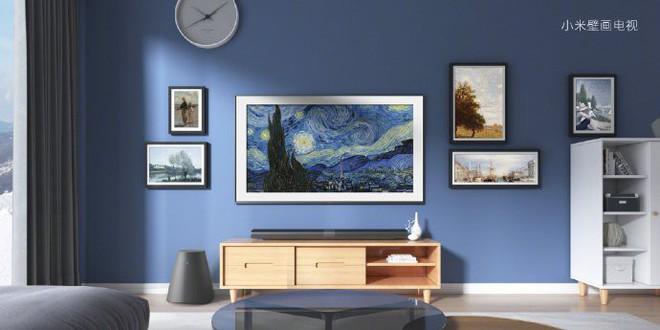 Học theo Samsung, Xiaomi ra mắt TV 65-inch với thiết kế như tranh treo tường - Ảnh 1.