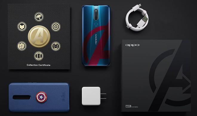 Oppo F11 Pro Marvel's Avengers Limited Edition ra mắt, thiết kế mặt lưng đặc biệt, đi kèm case gắn khiên Captain America - Ảnh 1.