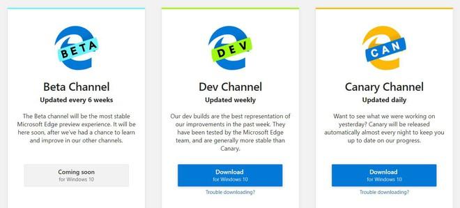 Microsoft chính thức cho cho tải về bản dùng thử của trình duyệt Edge dùng nhân Chromium - Ảnh 2.