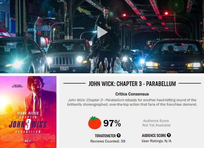 John Wick 3 đạt 97% rating trên Rotten Tomatoes, tuyệt phẩm hành động là đây chứ đâu - Ảnh 2.