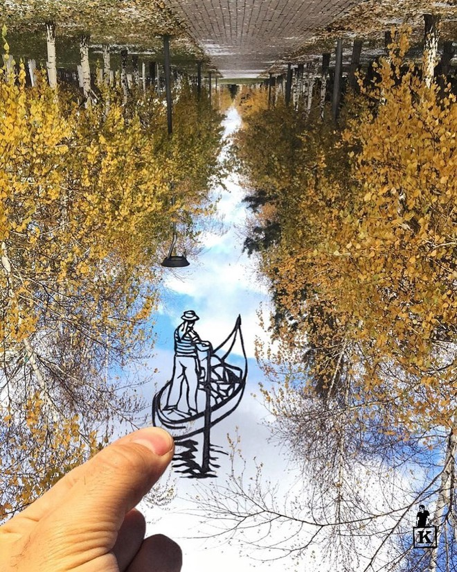 Lá rụng thường bị tống vào thùng rác, lá rụng ở Kazakhstan lại biến thành cả bầu trời nghệ thuật - Ảnh 10.