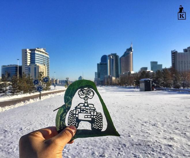 Lá rụng thường bị tống vào thùng rác, lá rụng ở Kazakhstan lại biến thành cả bầu trời nghệ thuật - Ảnh 18.