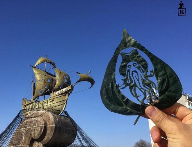 Lá rụng thường bị tống vào thùng rác, lá rụng ở Kazakhstan lại biến thành cả bầu trời nghệ thuật - Ảnh 8.