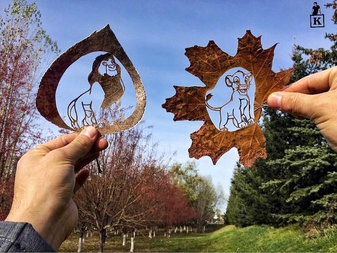 Lá rụng thường bị tống vào thùng rác, lá rụng ở Kazakhstan lại biến thành cả bầu trời nghệ thuật - Ảnh 9.