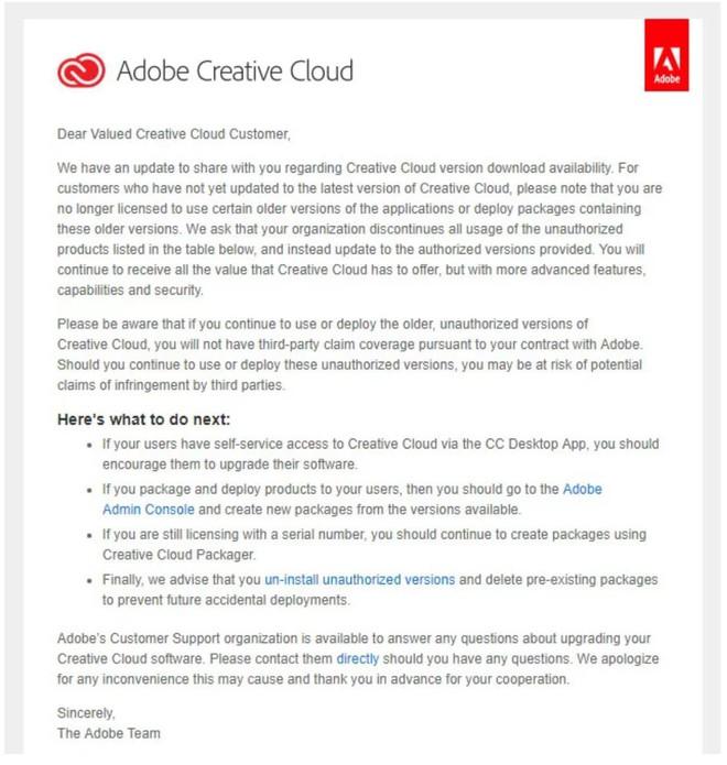 Người dùng các phiên bản cũ của phần mềm Adobe sẽ có thể bị kiện - Ảnh 2.