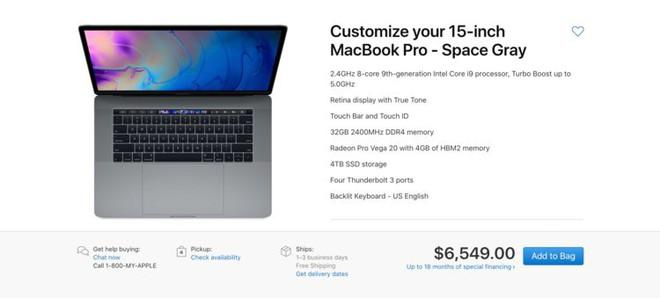 Apple MacBook Pro 2019 max cấu hình có giá tới 151 triệu - Ảnh 1.