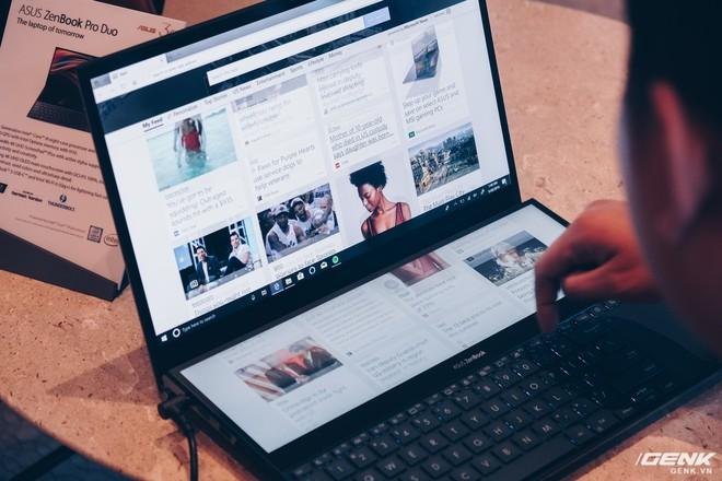 Cận cảnh Asus ZenBook Pro Duo vừa ra mắt với màn hình phụ cực lớn, màn hình chính OLED 4K, chip Core i9 - Ảnh 5.