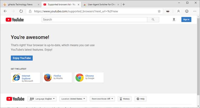 Google chặn không cho trình duyệt Edge mới của Microsoft truy cập thiết kế mới của YouTube - Ảnh 3.