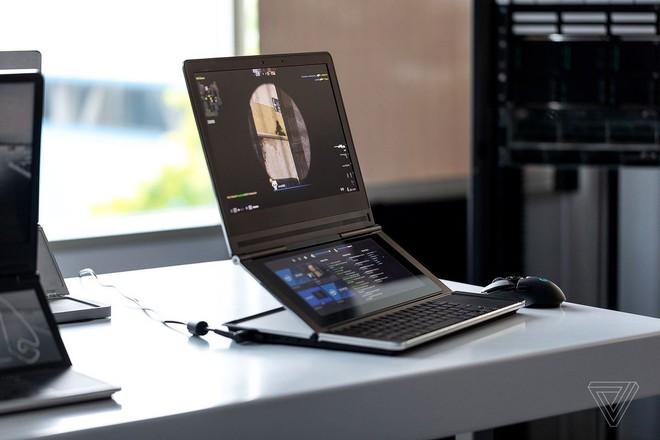 Cận cảnh nguyên mẫu laptop chơi game 2 màn hình Honeycomb Glacier của Intel - Ảnh 8.