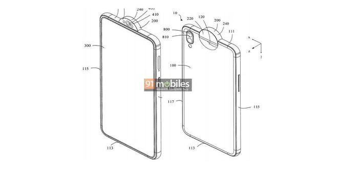 Sáng chế mới cho thấy OPPO sắp ra mắt smartphone với camera xoay lật độc đáo - Ảnh 1.