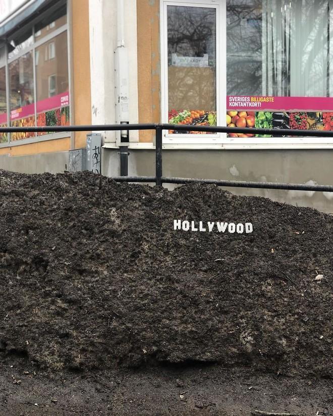 Nghệ sĩ Thụy Điển được tôn vinh vì phá hoại đường phố bằng pixel-art - Ảnh 1.
