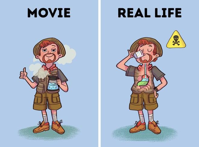 Bí kíp sinh tồn từ phim Hollywood thường được thần thánh hóa, học theo có ngày mất mạng như chơi - Ảnh 4.
