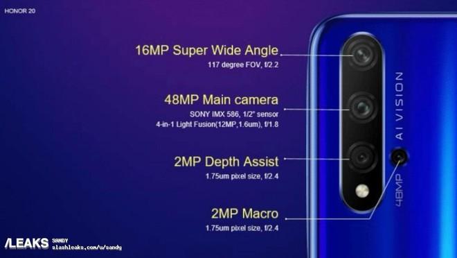 Honor 20 và Honor 20 Pro lộ thông số camera, có zoom quang 10x và chống rung OIS 4 trục - Ảnh 2.