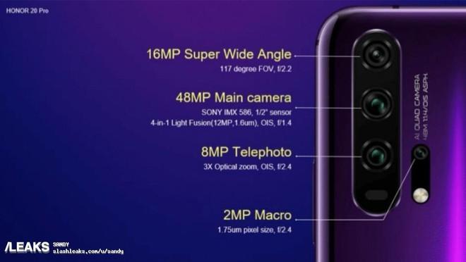 Honor 20 và Honor 20 Pro lộ thông số camera, có zoom quang 10x và chống rung OIS 4 trục - Ảnh 3.
