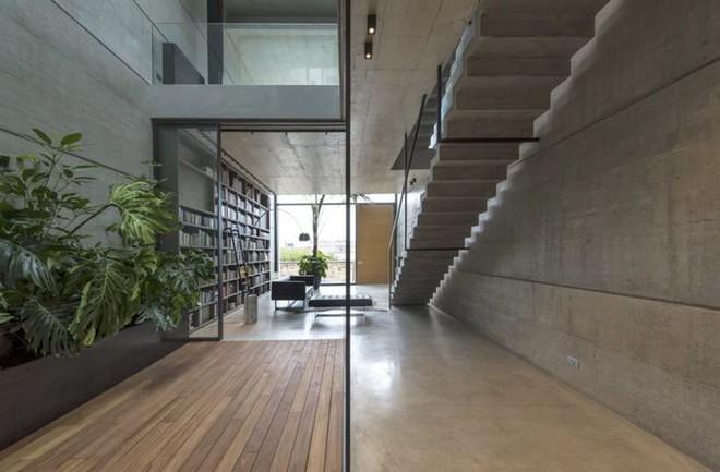 Ngắm kiến trúc nhà phố độc đáo với không gian hiện đại, có phòng tập thể dục, chiếu phim và hồ bơi trong suốt trên nóc nhà - Ảnh 2.