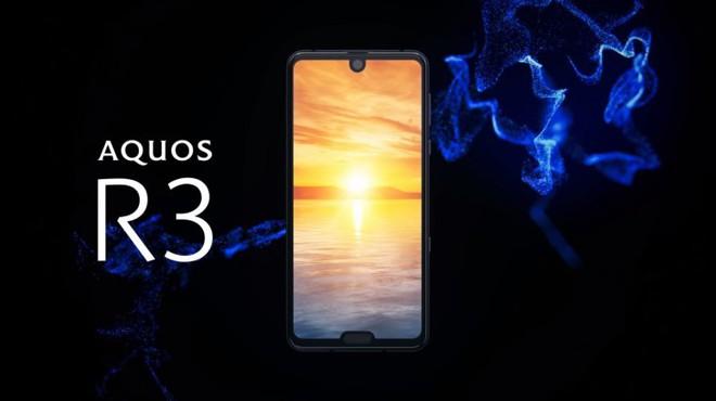 Sharp Aquos R3 ra mắt: Màn hình 2 tai thỏ, tần số quét 120Hz, Snapdragon 855... - Ảnh 1.