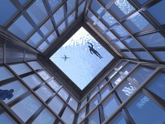 Ngắm nhìn bể bơi vô cực trên nóc tòa nhà ở London - Ảnh 2.