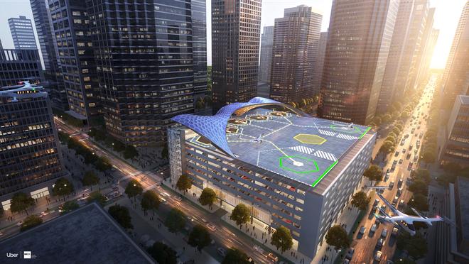 Uber trình làng thiết kế bãi đỗ mới đầy chất tương lai cho dịch vụ taxi bay Uber Air - Ảnh 5.