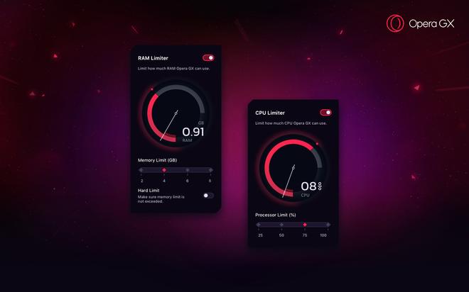 Opera GX ra mắt: Trình duyệt đầu tiên dành cho game thủ, cho phép giới hạn CPU và RAM để lướt web - Ảnh 2.