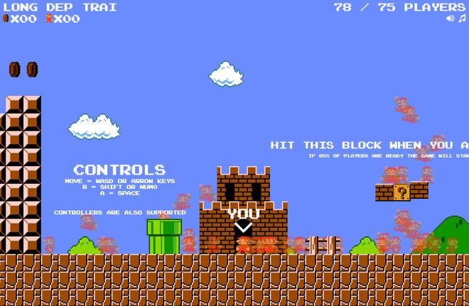Super Mario vừa được chế thành game battle royale: 75 người cùng chơi xem ai phá đảo đầu tiên - Ảnh 1.