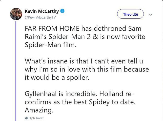 Những bình luận đầu tiên về Far From Home: Xuất sắc hơn cả Spider-Man 2 năm xưa! - Ảnh 1.