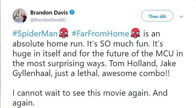 Những bình luận đầu tiên về Far From Home: Xuất sắc hơn cả Spider-Man 2 năm xưa! - Ảnh 5.