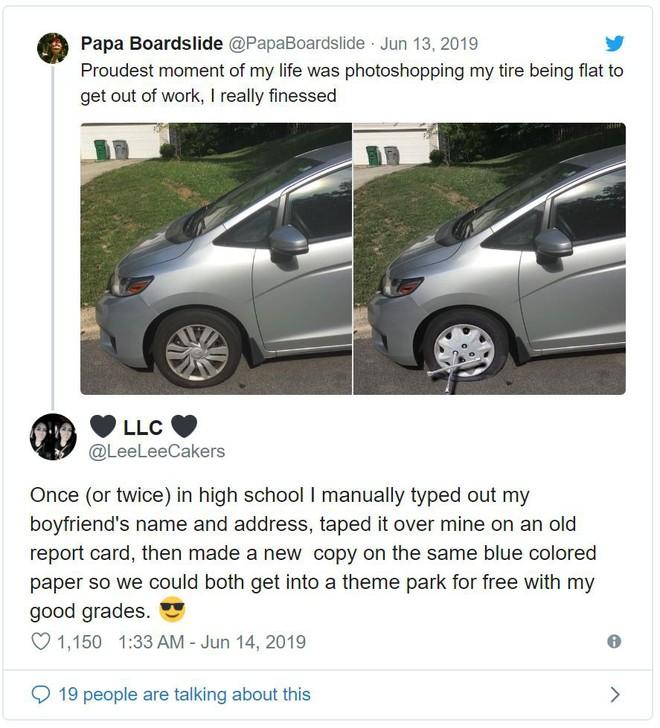 Chán đi làm, thanh niên Photoshop ảnh xe của mình bị thủng lốp để xin nghỉ - Ảnh 5.