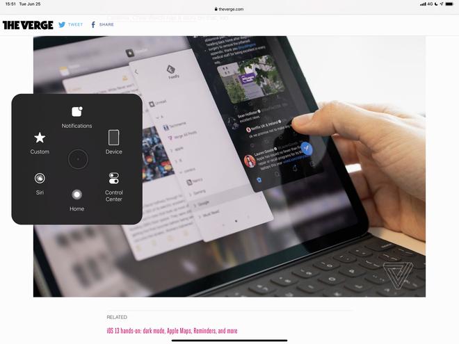 Dùng thử chuột trên iPad Pro cài iPadOS Public Beta: Trải nghiệm khác hoàn toàn chuột máy tính, thao tác điều khiển sơ sài - Ảnh 4.