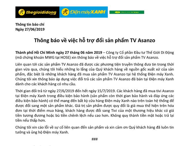 Nhà bán lẻ Việt thu hồi TV Asanzo, hỗ trợ đổi sang TV thương hiệu khác - Ảnh 4.