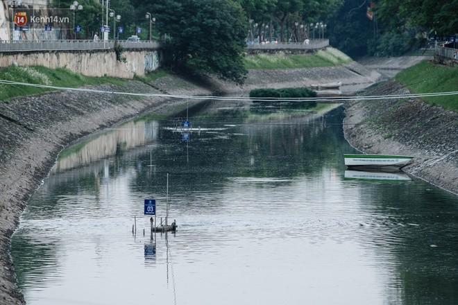 Sông Tô Lịch đổi màu sau khi làm sạch bằng công nghệ Nhật Bản: Hoa lau xanh mướt, người dân thư thả câu cá - Ảnh 1.