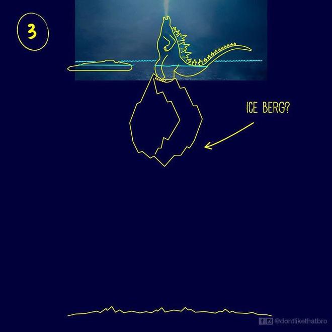 Làm thế nào Godzilla cao 120m có thể nổi giữa đại dương sâu cả nghìn mét? Internet đã có câu trả lời! - Ảnh 5.