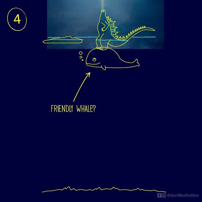 Làm thế nào Godzilla cao 120m có thể nổi giữa đại dương sâu cả nghìn mét? Internet đã có câu trả lời! - Ảnh 6.