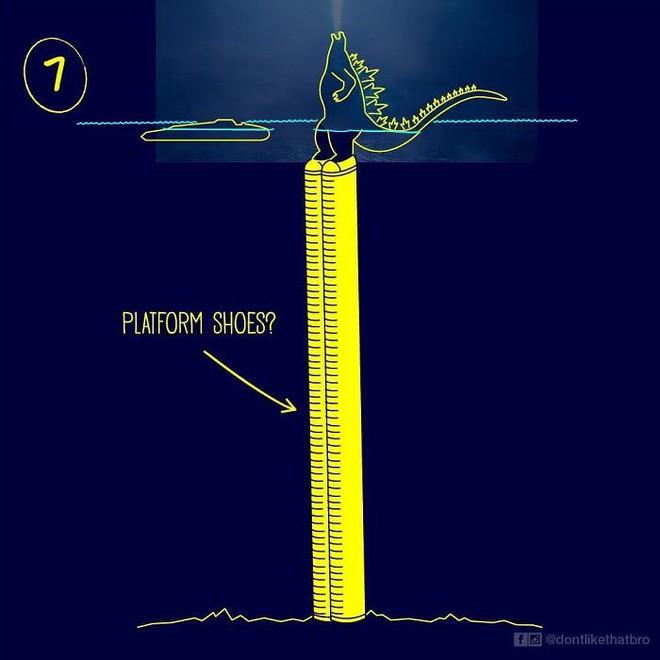Làm thế nào Godzilla cao 120m có thể nổi giữa đại dương sâu cả nghìn mét? Internet đã có câu trả lời! - Ảnh 9.