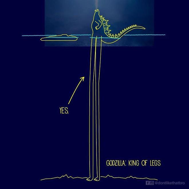 Làm thế nào Godzilla cao 120m có thể nổi giữa đại dương sâu cả nghìn mét? Internet đã có câu trả lời! - Ảnh 11.