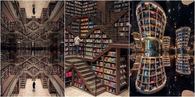 Cách bài trí gây ảo giác của nhà sách Trung Quốc khiến du khách lú lẫn như lạc vào mê cung - Ảnh 10.
