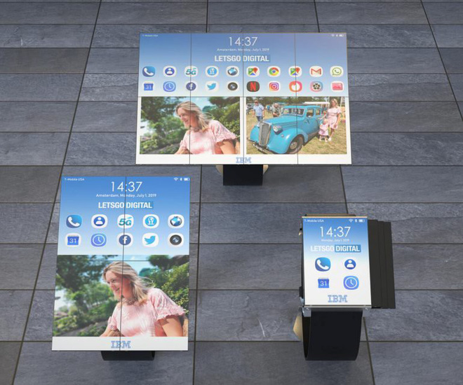 Đây là chiếc smartwatch mà IBM đang ấp ủ, màn hình có thể mở rộng thành smartphone hoặc tablet - Ảnh 2.