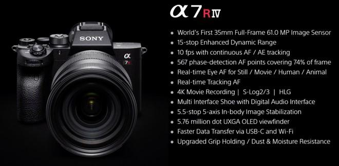 Sony công bố Alpha a7RIV: Máy ảnh Full-frame 61MP đầu tiên trên Thế giới - Ảnh 7.