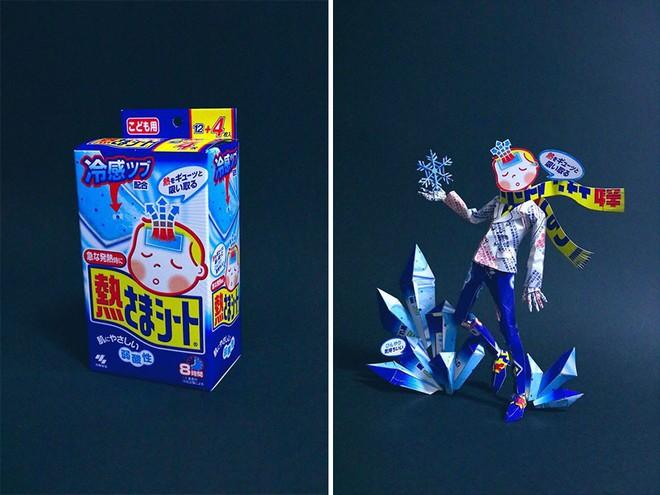 Sáng tạo của nghệ sỹ Nhật Bản: Biến vỏ hộp thành những tuyệt tác nghệ thuật, đưa kèm luôn bài học về tái chế rác thải - Ảnh 13.