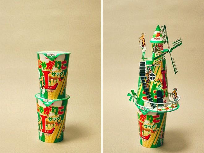 Sáng tạo của nghệ sỹ Nhật Bản: Biến vỏ hộp thành những tuyệt tác nghệ thuật, đưa kèm luôn bài học về tái chế rác thải - Ảnh 14.