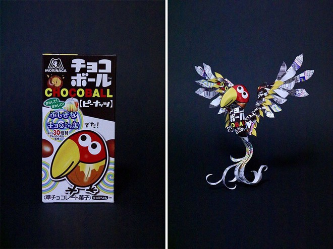 Sáng tạo của nghệ sỹ Nhật Bản: Biến vỏ hộp thành những tuyệt tác nghệ thuật, đưa kèm luôn bài học về tái chế rác thải - Ảnh 17.