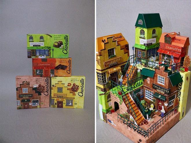 Sáng tạo của nghệ sỹ Nhật Bản: Biến vỏ hộp thành những tuyệt tác nghệ thuật, đưa kèm luôn bài học về tái chế rác thải - Ảnh 6.