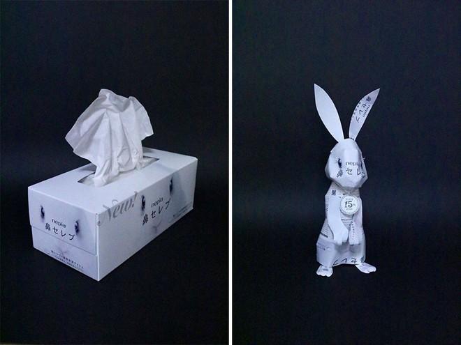 Sáng tạo của nghệ sỹ Nhật Bản: Biến vỏ hộp thành những tuyệt tác nghệ thuật, đưa kèm luôn bài học về tái chế rác thải - Ảnh 8.