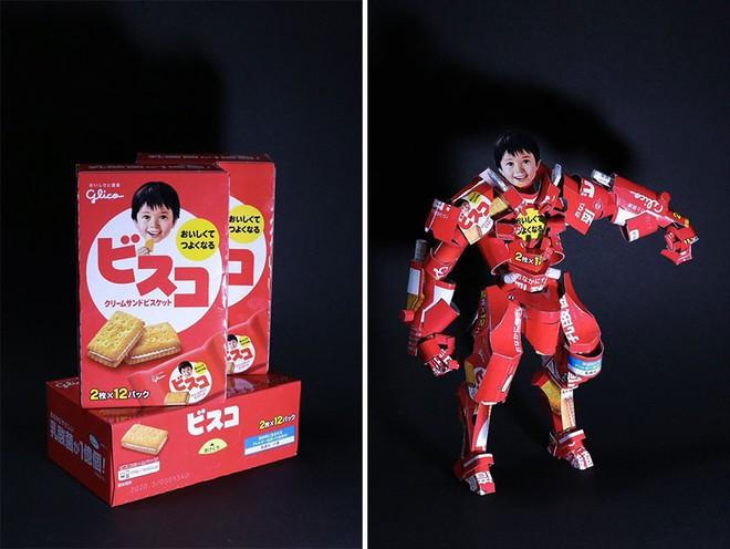 Sáng tạo của nghệ sỹ Nhật Bản: Biến vỏ hộp thành những tuyệt tác nghệ thuật, đưa kèm luôn bài học về tái chế rác thải - Ảnh 9.