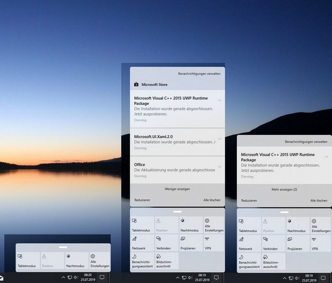 Microsoft đang thử nghiệm thiết kế Action Center mới, các góc bo cong trông mềm mại và hiện đại hơn - Ảnh 1.