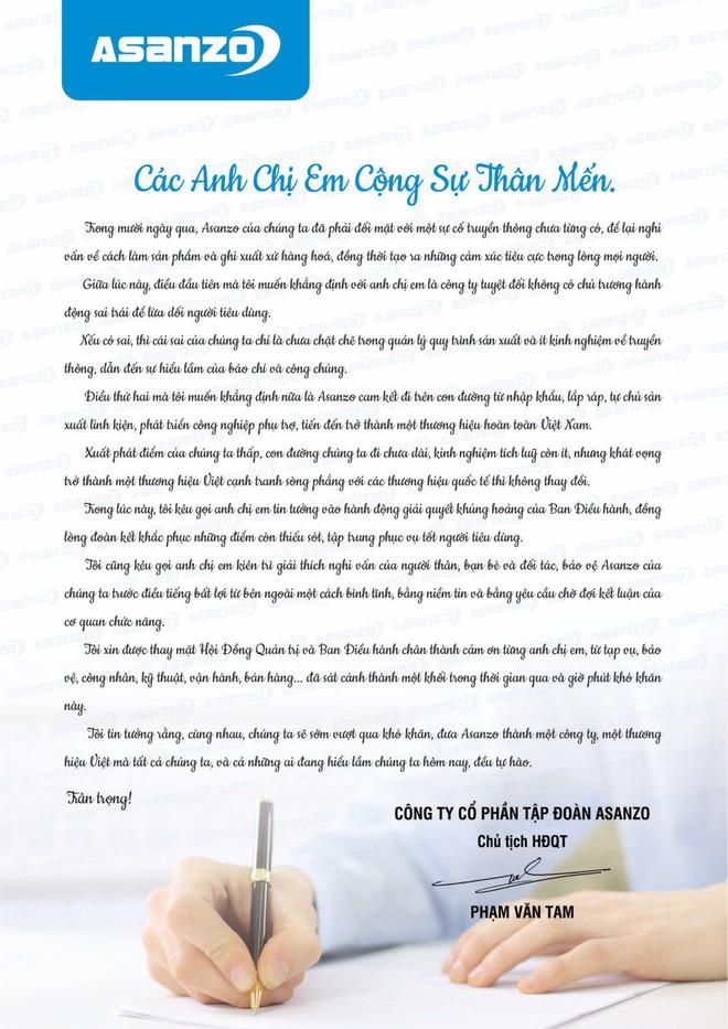 CEO Asanzo Phạm Văn Tam viết tâm thư trấn an nhân viên, nói không lừa dối người dùng, nếu có sai thì là do quản lý chưa chặt, ít kinh nghiệm truyền thông - Ảnh 2.