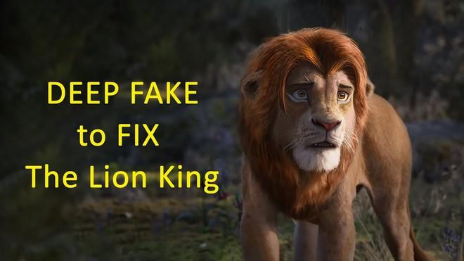Thanh niên dùng deepfake để sửa CGI bộ phim Vua sư tử mới, kết quả rất mĩ mãn - Ảnh 1.